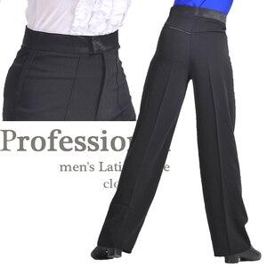 Image 2 - 新しい到着ブラックカラープロフェッショナルメンズラテンダンスパンツスパンデックス男の子社交ダンスパンツ