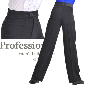 Image 2 - הגעה לניו צבע שחור mens לטיני ריקוד מקצועי סטרץ מכנסיים בני מכנסיים ריקודים סלוניים