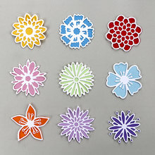 DUOFEN METAL CUTTING DIES varieties of lace small flowers and branches stencil for DIY papercraft projects Scrapbook Paper Album(China)