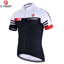 X-tiger-Ropa de ciclismo profesional, camiseta de manga corta para bicicleta de montaña, maillot, jerseys