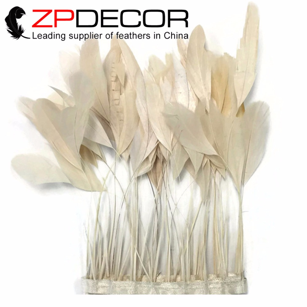 الرائدة المورد zpdecor رخيصة بيع 8 10 بوصة (20 25 سنتيمتر) 10 متر/الكثير جميلة العاج جردت كوكه ريش الذيل تقليم-في ريشة من المنزل والحديقة على  مجموعة 1