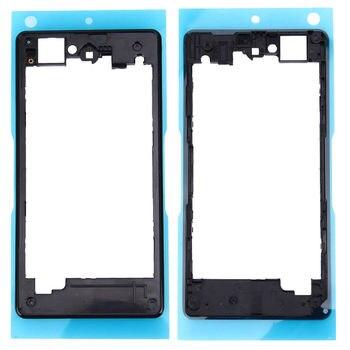 Para Sony Xperia Z1 Compact Z1 Mini D5503 Blanco/Negro Color parte trasera del marco de la carcasa