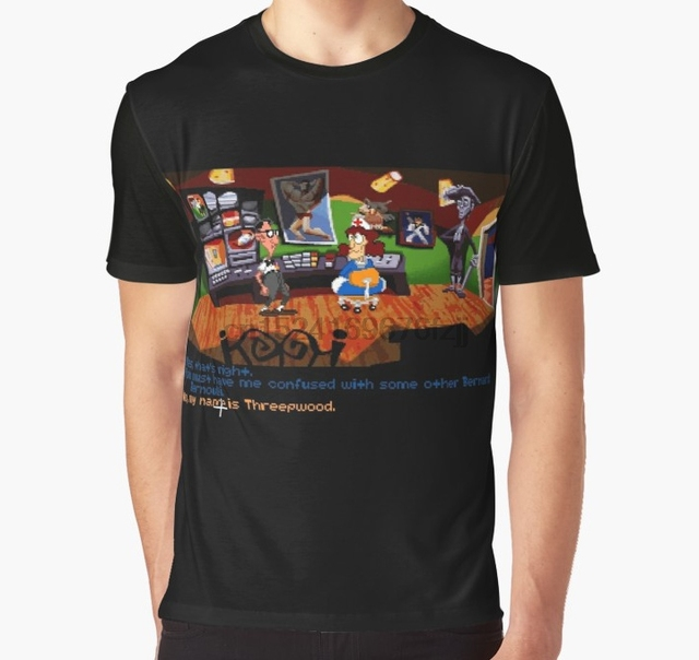 7422b2d27b8 All Over Print Women T Shirt Men Funny tshirt Maniac Mansion - Day of the  Tentacle  01 Graphic T-Shirt