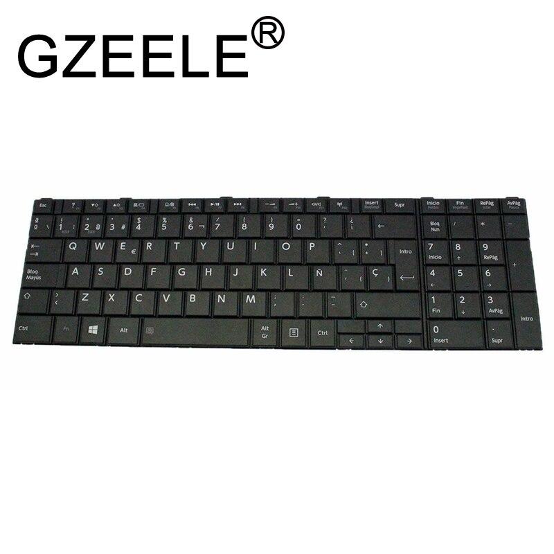 GZEELE NEW Spanish SP Keyboard For Toshiba Satellite C50 C50D C50-A C50-A506 C50D-A C55 C55T C55D C55-A C55D-A SP Teclado BLACK