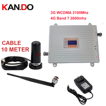 Home use 3G 4G booster repeater set w/ antenna 3G WCDMA &4G amplier BAND7 LTE 4G