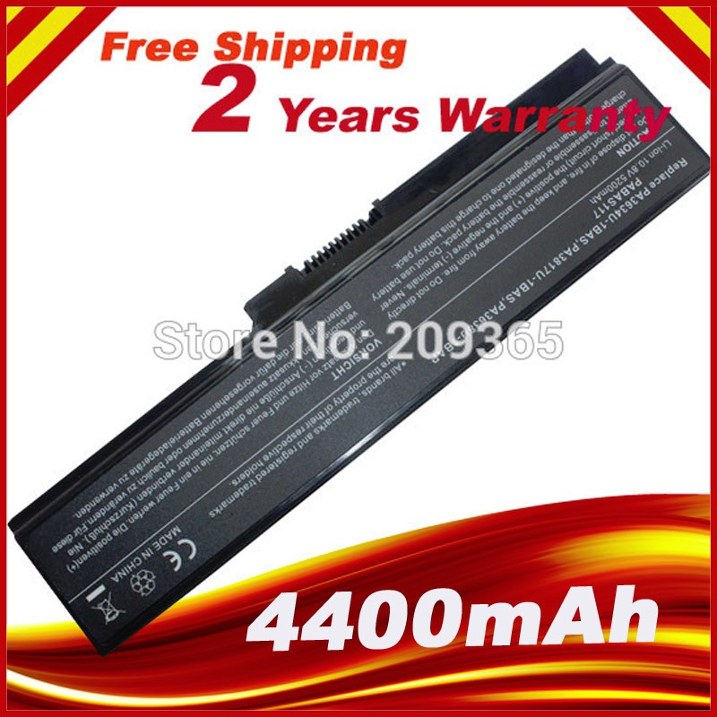 Laptop Battery  for Toshiba Satellite C650 C655 C655D C660 C670  PA3817U-1BAS PA3817U-1BRS battery for toshiba pa3533u 1bas pa3534u 1bas pa3534u 1brs for satellite a200 a205 a210 a215 l300 l450d l500 l505 a300 a500