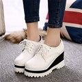 Женщины Высота Увеличение Повседневная Обувь 2016 Горячей Продажи Дышащие Клинья Обувь для Женщин Туфли На Платформе Лианы D10 35