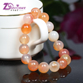 ZIRCONER Fashion Marine Chalcedony Stone Bracelets & Bangles Elastic Rope Chain Natural Stone Bracelets For Women Jewelry NB117