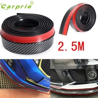 2 5M Universal Carbon Fiber Front Bumper Lip Splitter Chin Spoiler Body Trim 8FT Fe10