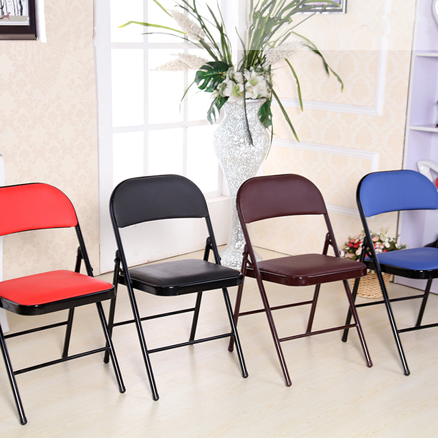 moderne simple loisirs chaise pliante dortoir etudiant chaise apprentissage bureau personnel conference chaise doux ordinateur chaise