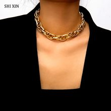 SHIXIN Punk Exaggerated Heavy Metal Big Thick Chain Choker Necklace Women Goth Fashion Night Club Jewelry Female Chocker Collier(China)