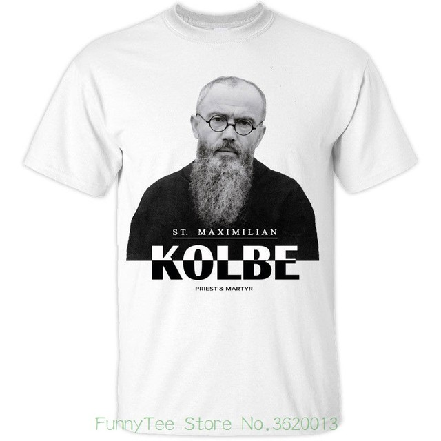 a6b5d0e7 St Maximilian Kolbe ( Polish Priest And Martyr ) Catholic Christian T-shirt  Colors