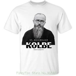 e80e7614 St Polish Priest Catholic Christian T-shirt Colors