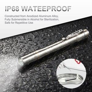 Image 5 - Lumintop IYP365 TI poche Penlight Nichia/Cree LED IPX8 étanche 3 Modes 2AAA smart titane stylo lampe de poche pour médical