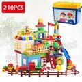 210 шт. Мой Первый Замок Парк Развлечений Модель Большой Размер Строительные Блоки Кирпичи Игрушки Для Детей, Совместим С Lego Duplo