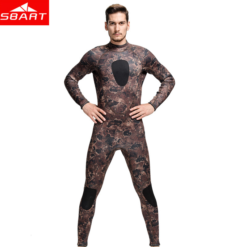 SBART Professional Spearfishing Wetsuit 3MM Neoprene Surfing Camo Wetsuit Anti-Jellyfish Long Sleeve Warm One-Piece Diving Suit sbart camo spearfishing wetsuit 3mm neoprene camouflage wetsuit professional diving suit men wet suits surfing wetsuits o1018 page 2