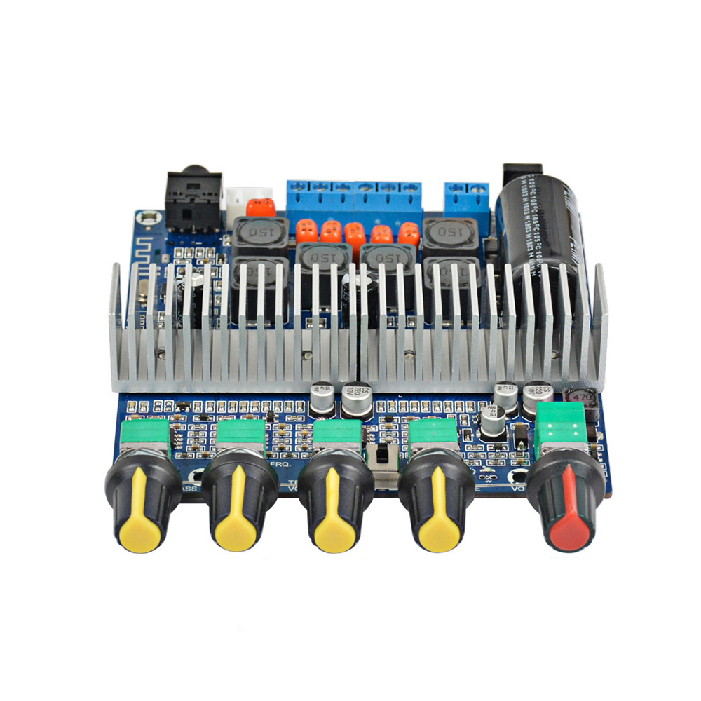 AIYIMA 100W+2*50W <font><b>TPA3116</b></font> <font><b>2.1</b></font> <font><b>Bluetooth</b></font> Digital Amplifier Power Assembled High-power Board TPA3116D2 HIFI Subwoofer Bass Board image