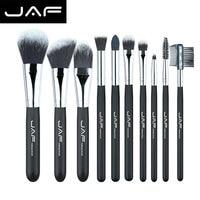 JAF Fashionable 10 Pieces Cosmetic Makeup Brush Set Professional Soft Taklon Fiber Make Up Brushes Tool