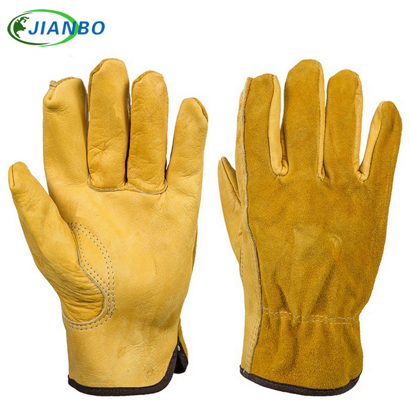 Safurance Men's Work Gloves Cowhide Driver Security Protection Wear Safety Workers Welding Motorcycle Moto Gloves цена 2016