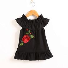 MUQGEW 2018 Girls dress Dresses for babies dress Toddler Infant Baby Girls Off Shoulder Rose Ruched Dress Girl Sundress Clothes
