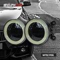 Envío libre iphcar 12 v 30 w universal de alta y de buena calidad super brillante Óptica 90mm COB Angel Eyes LED Luz de Niebla con LED DRL