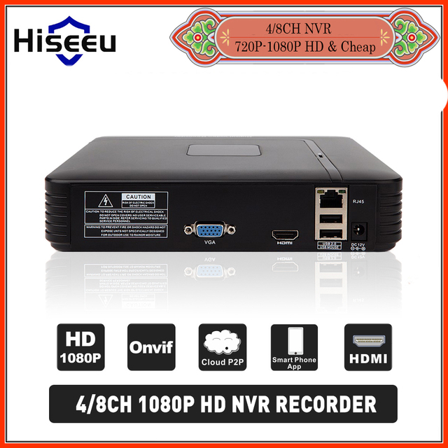 H 264 VGA HDMI 4CH CCTV NVR 4 Channel Mini NVR 1920*1080P ONVIF 2 0 For IP  Camera Security System For 1080P Camera Remote view-in Surveillance Video