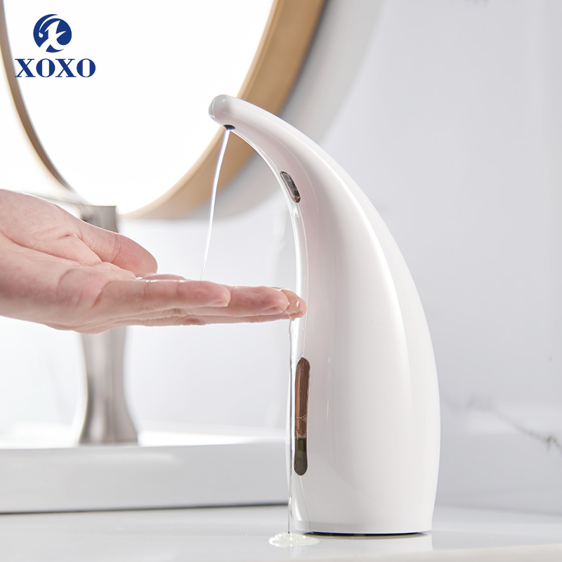 300ml ABS Automatic Liquid Soap Dispenser Smart Sensor Touchless ABS Electroplated Sanitizer Dispensador Kitchen Bathroom 1805A 300ml ABS Automatic Liquid Soap Dispenser Smart Sensor Touchless ABS Electroplated Sanitizer Dispensador Kitchen Bathroom 1805A
