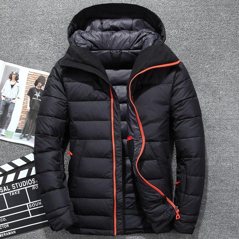 2017 Mann Neue Mode Freizeit Jacke Winter Männer Mantel Warme Unten Jacke Parka Männer Jacken Männer Leichte Hohe Dichte Faser