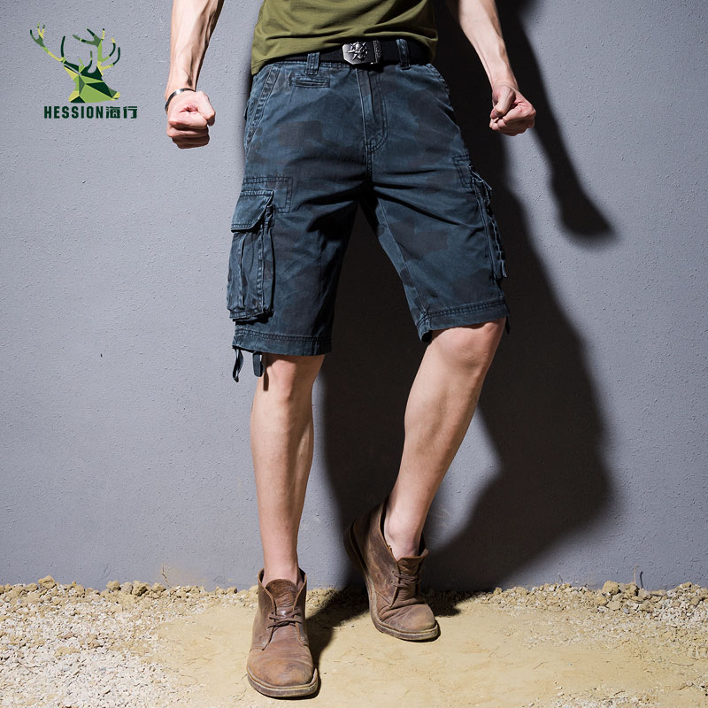 Camouflage Camo Cargo Shorts Men 2018 New Mens Casual Shorts Male Loose Work Shorts Man Military Short Pants