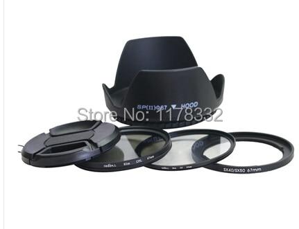 5 en 1 sx dc 67mm kit adaptador de anillo de lente + tapa de lente + - Cámara y foto - foto 1