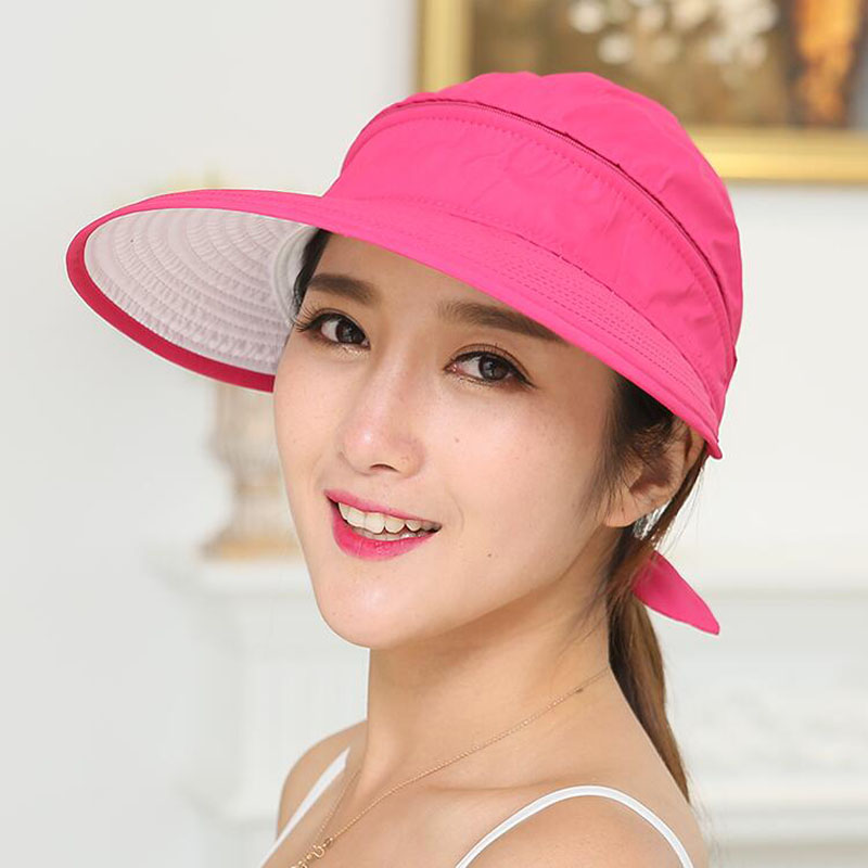 78099d9ed271f Women Foldable Snapback Sun Hat Lady Summer Beach Hat With Face Neck Cover  UV Protection Fishing Cap Panama Visors Female-in Sun Hats from Women s  Clothing ...