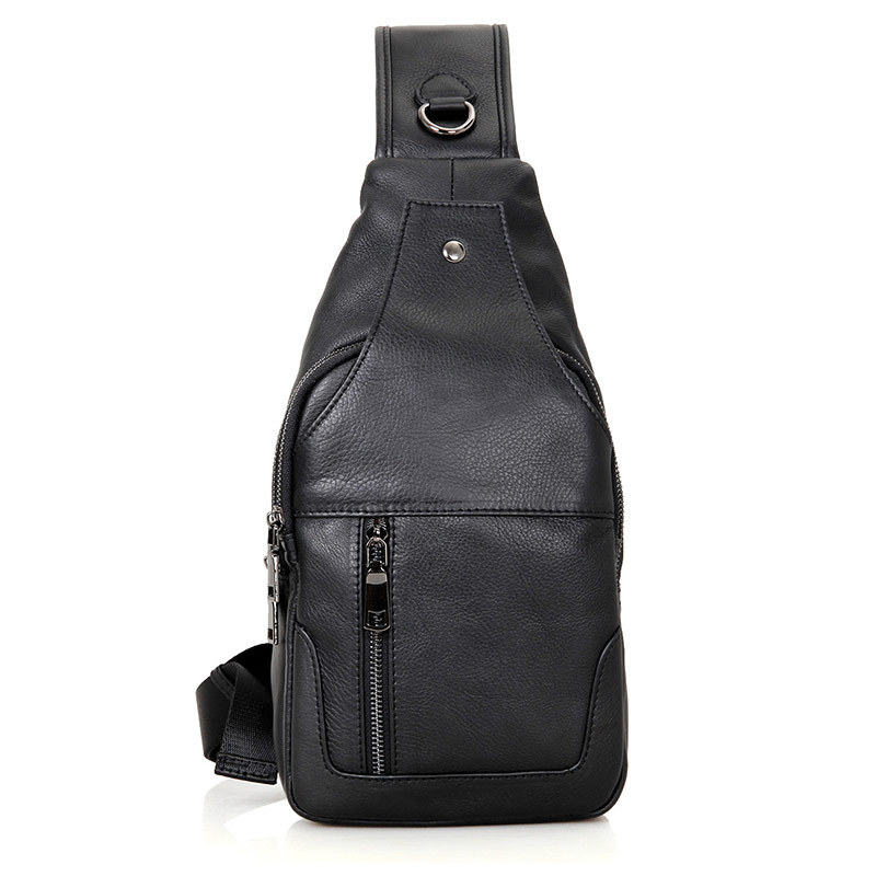 Nesitu High Quality Casual Black Coffee Genuine Leather Women Men Chest Bag Shoulder Messenger Bags M4004Nesitu High Quality Casual Black Coffee Genuine Leather Women Men Chest Bag Shoulder Messenger Bags M4004