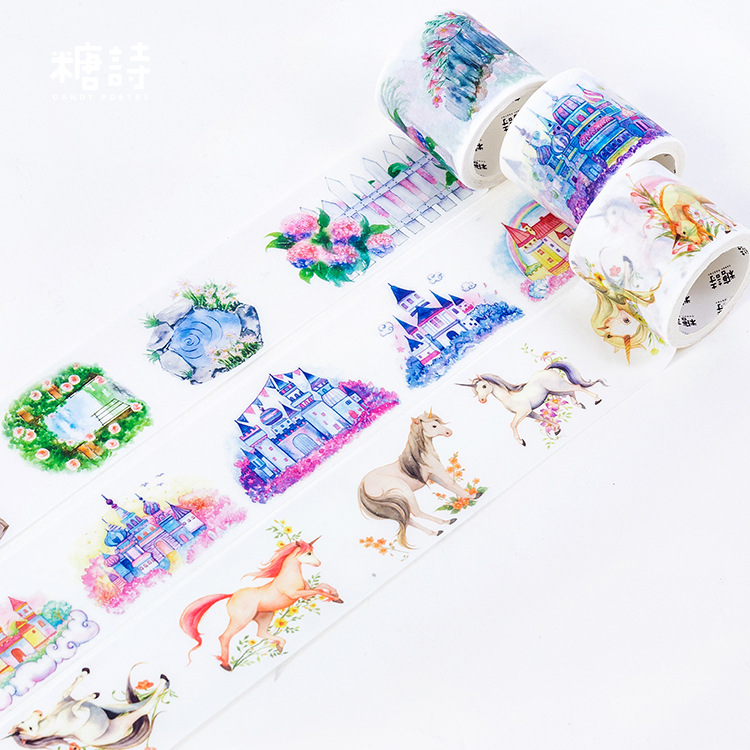Disappeared Country Washi Tape 35cm Wide Decorative Tapes DIY Decor Planners Scrapbooking Adhesive Tape Label Sticker Stationery