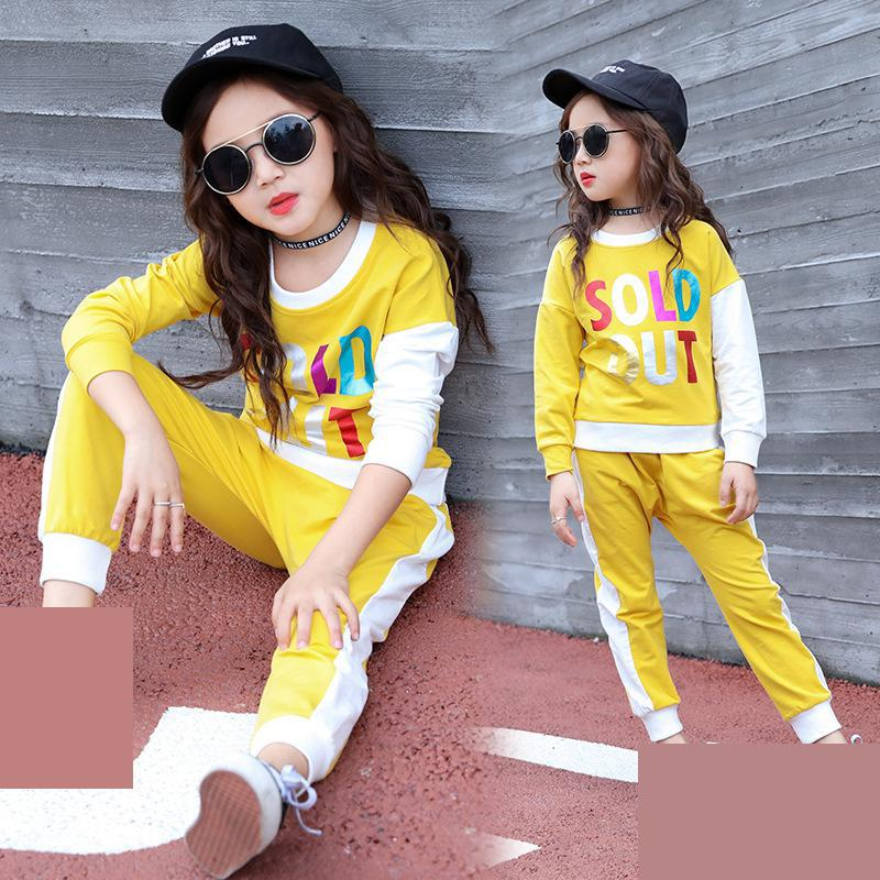 Children's Wear Girls Clothing Sets Autumn Kids Tracksuit Girls Clothes Sets Sports Suits Teenage Girls Back to School Outfits kids stripe outfits for teenage girls long sleeve clothes sets girls school shirts