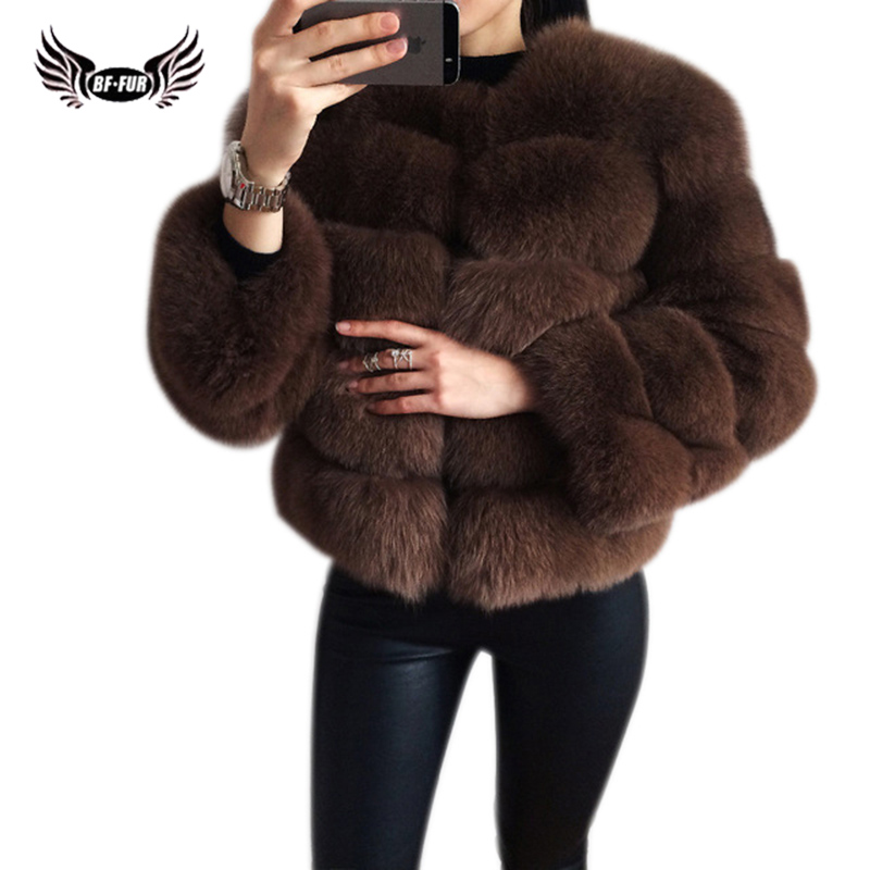 BFFUR Real Fur Coat Luxury Women Winter Fashion Style Natural Fur Vest Lady Whole Fox Fur Coats Top Quality Real Fur C0011