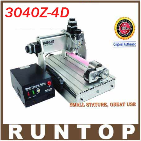 Four-axis 4 Axis Ball Screw CNC Router Engraver Engraving Machine CNC 3040 Z-4D new universal 76 pcs set screw bolts nuts for disc brake rotors mountain bike