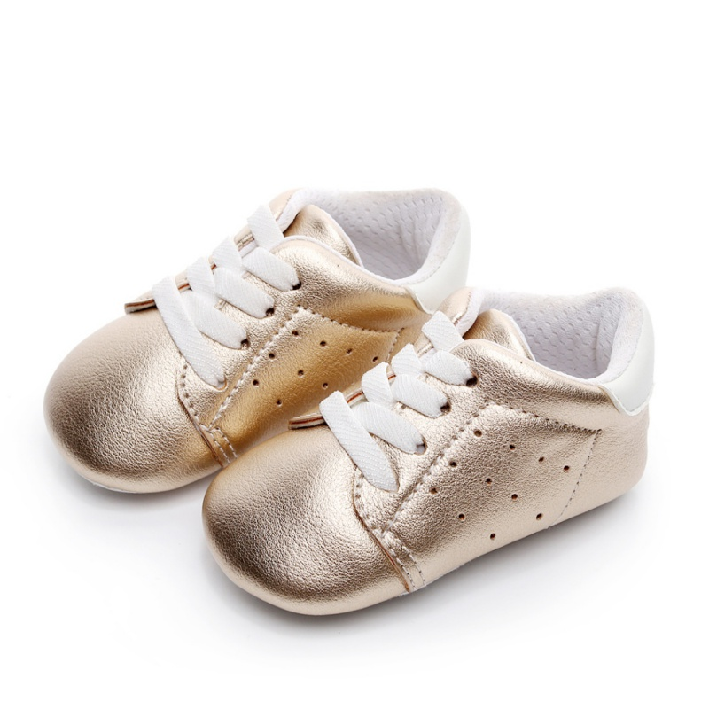 hot sale baby moccasins PU leather toddler first walker soft soled girls shoes newborn 0-1 years baby boys lace-up sneakers