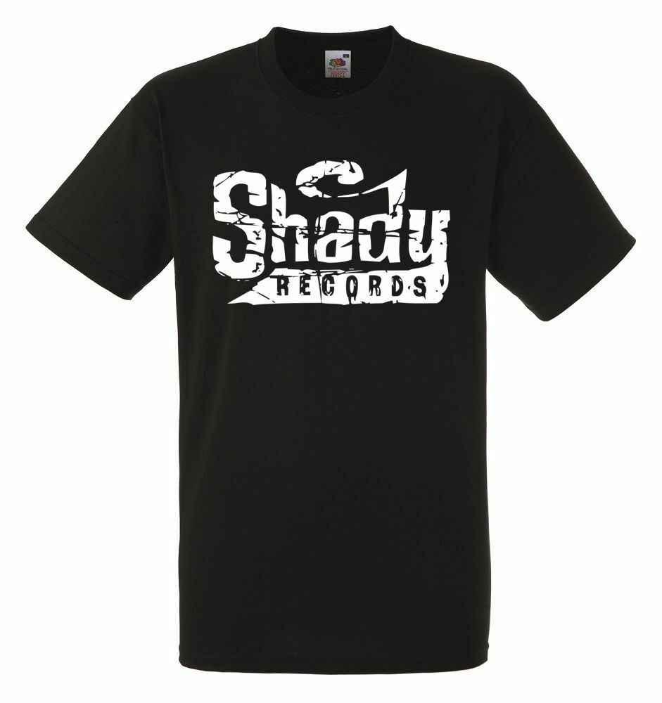 Shady Records Logo Mens Black Rock T-shirt NIEUWE Maten S-XXXL Gift Print T-shirt Hiphop Tee Shirt goedkope groothandel