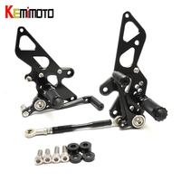 KEMiMOTO Motorcycle Accessories Adjustable Rear Set Rearsets Footrest For Kawasaki NINJA250R EX250K NINJA 250R 2008 2009 2012