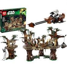EM ESTOQUE Frete grátis 1990 pcs Lepin 05047 Blocos de Construção de Star Wars Ewok Aldeia Juguete para Construir Tijolos Brinquedos Compatíveis