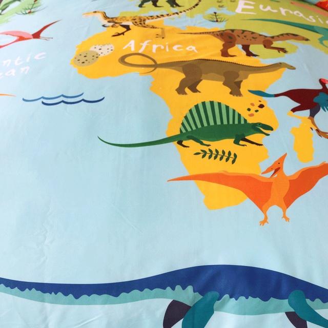 Dinosaurs Map Bedding Set – 3pcs