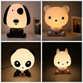 Baby Room Cartoon Panda/Bear/Dog/Rabbit Night Sleeping Light Kids Bed Lamp Night Sleeping Lamp Best for Children Gifts