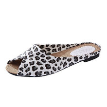 Women's Casual Fish Mouth Sandal Fashion Low Heels Leopard Square Heel Shoes Mature Sandals zapatos de mujer 2019 Sapato Feminin(China)