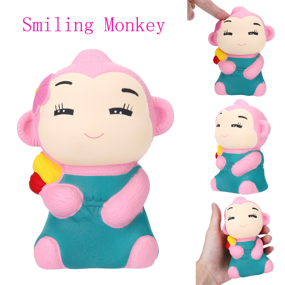 1PC Smiling Monkey cented Charm Slow Rising Squeeze Stress Reliever Cartoon Cute Gift Exquisite Fun Decoration