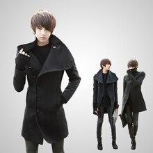 Herrenbekleidung British style männer mantel männer slim Medium- lange plus samt wollene graben männer Verdickung oberbekleidung