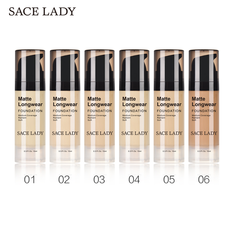 SACE LADY Face Foundation Cream Base Makeup Professional Matte Finish Make Up Liquid Concealer Waterproof Brand Natural Cosmetic 1