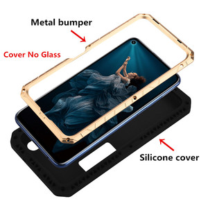 Image 2 - Original IMATCH Daily Waterproof Case For Huawei Honor 20 20 Pro Luxury Metal Silicone Cover Coque Full Protection Phone Cases