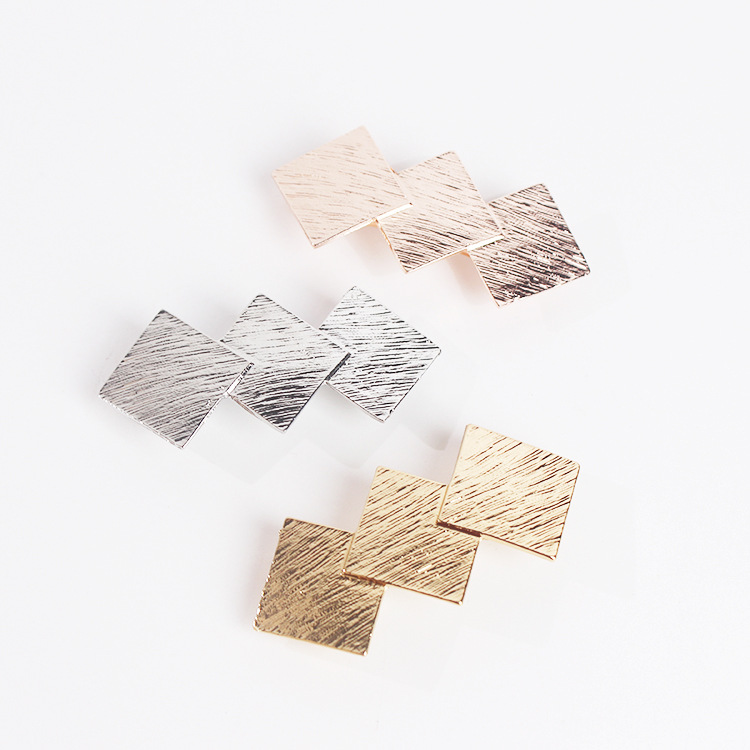 New arrival women lovely Simple geometric square HairPins girl's fashion hair Clips lady's cute barrette side clips   headwear
