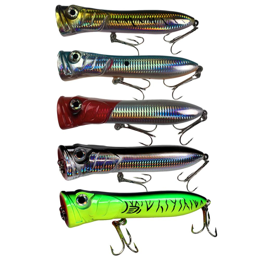 1pcs 1.6oz 6.3in Saltwater Popper Fishing Lures GT Offshore Big Game Top Water