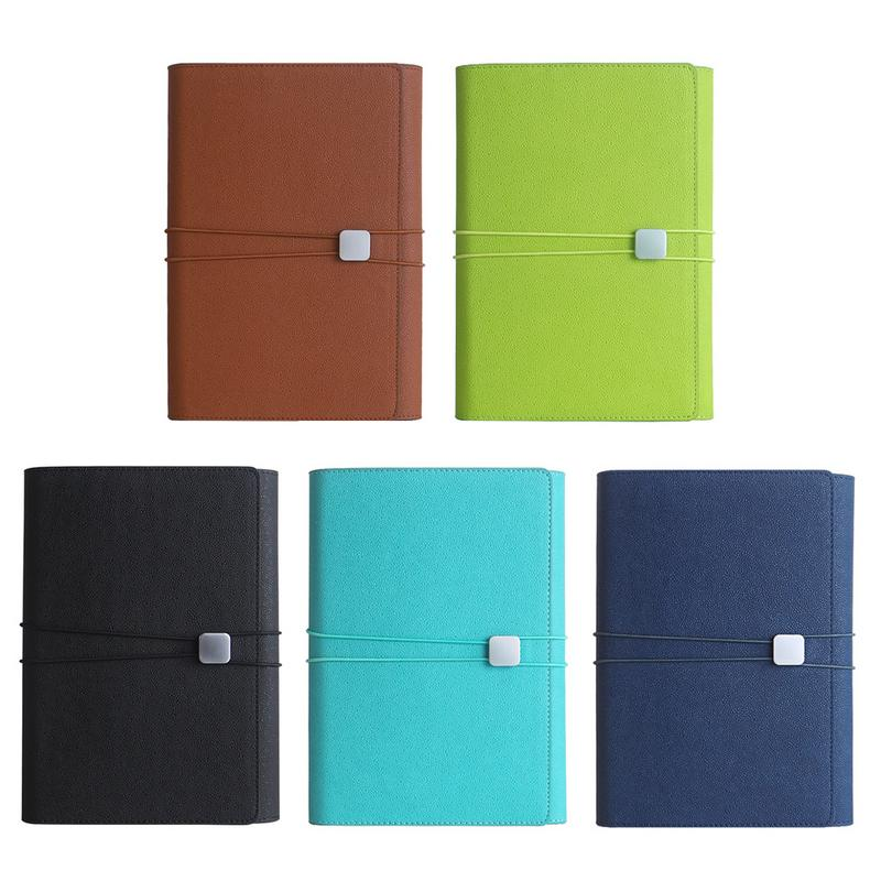A5 Loose-leaf Innovative Notepad Multifunctional Loops Business Cover Notebook School Supplies Office Accessories For Students 2018 fashion business notebook business loose leaf notebook a5 notebook with calculator multi functional loose leaf